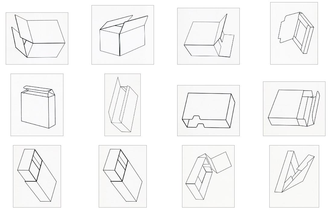 folded boxes group